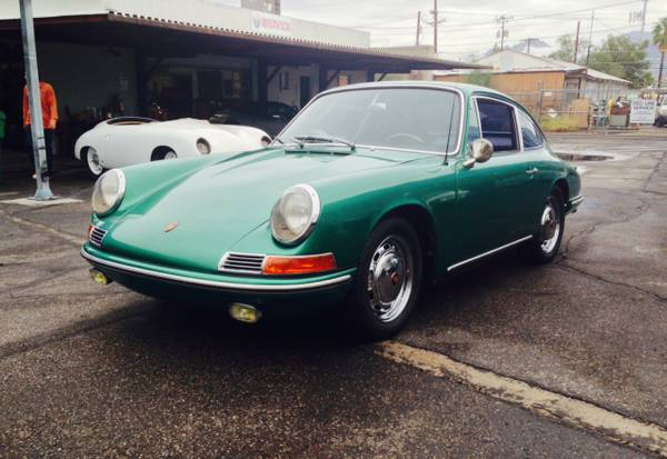 1966 porsche 911 green coupe