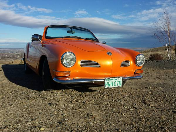 Restored 1970 VW Karmann Ghia Convertible